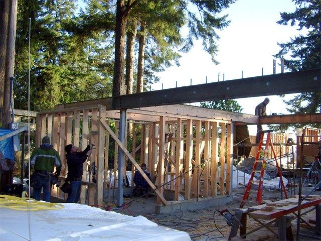Beginning Framing on the Carport/ADU