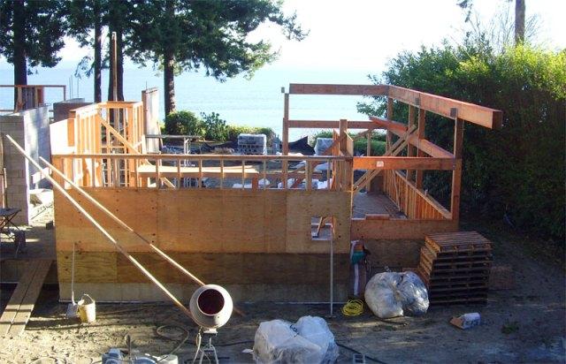 Beginning Framing on the Main Residence